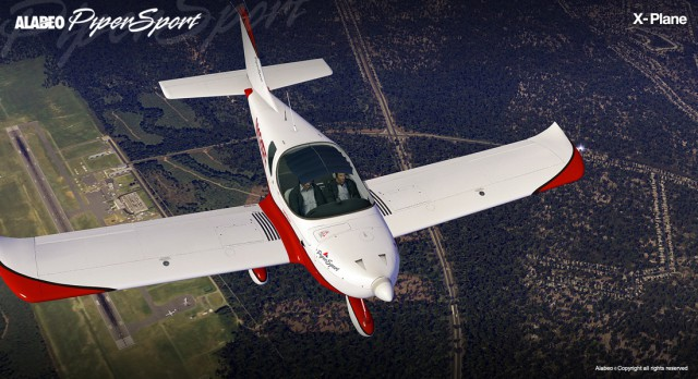 Alabeo Cruz Pipersport X-Plane 10