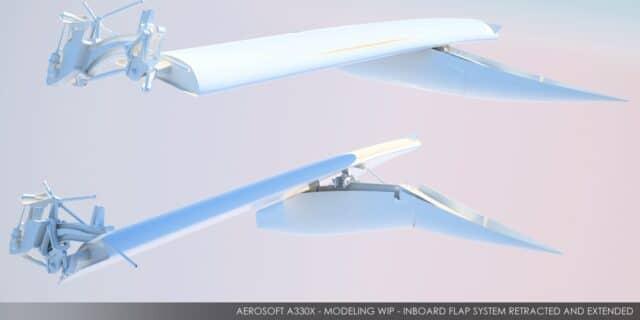 Aerosoft - A330 Inboard flap system