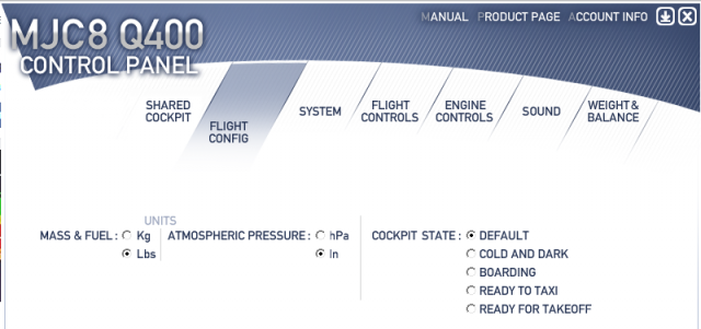 Majestic Q400 update systems